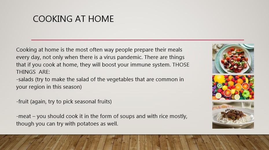 храна, корона вирус, имунитет, домашна храна
